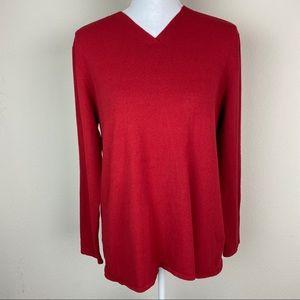 Eileen Fisher Long Sleeve V-Neck Pullover Sweater